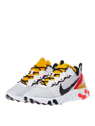 React Element 55 Trainers - White / Crimson