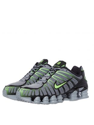 Shox TL Trainers - Wolf Grey / Lime Blast