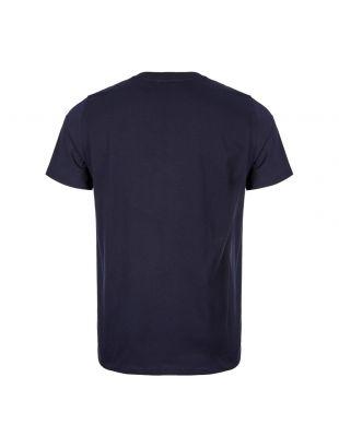 T-Shirt Niels Ivy Wave Logo - Navy