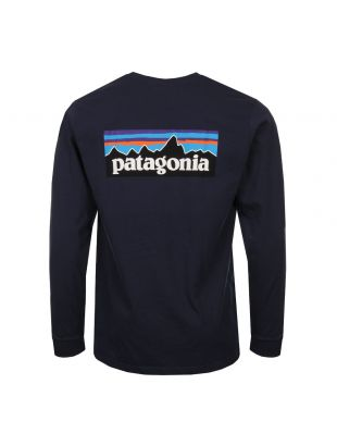 Long Sleeve T-Shirt P-6 Logo - Navy