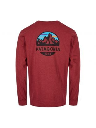 Long Sleeve T-Shirt Fitz Roy Scope - Oxide Red