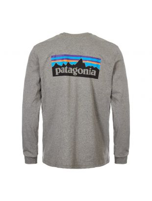 Long Sleeve T-Shirt P-6 Logo  - Grey