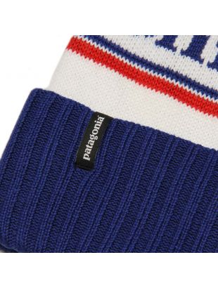 Beanie Powder Town - White / Viking Blue