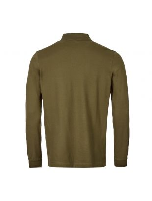 Long Sleeve Polo Shirt – Olive