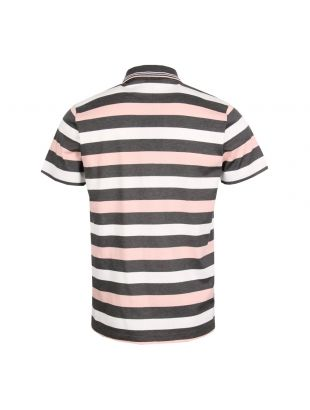 Polo Shirt - Grey / White / Peach