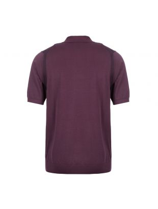 Polo Shirt Knitted - Aubergine