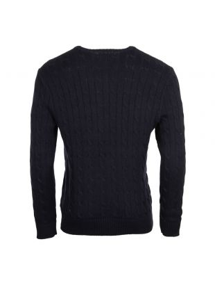 Cable Knit Jumper - Navy