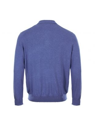 Knitted Polo Shirt - Blue