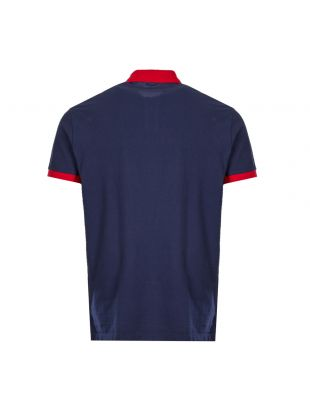 Polo Shirt - Navy / Red
