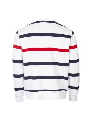 Sweater - White / Navy / Red