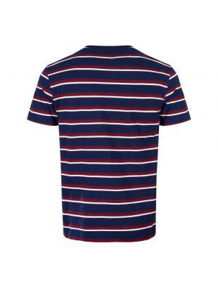 T-Shirt - Navy / Red Stripe