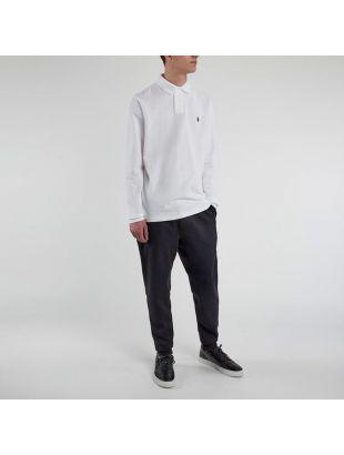 Long Sleeve Polo - White