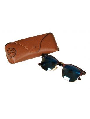 Clubmaster Sunglasses - Blue Mirrored / Dark Tortoiseshell