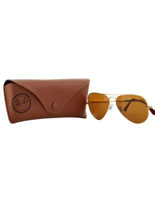 Aviator Sunglasses - Gold / Brown