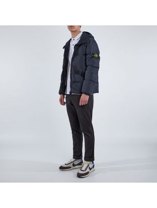 Jacket Crinkle Reps Garment Dyed - Navy