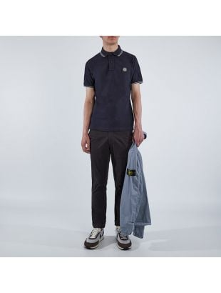 Polo Shirt Twin Tipped - Navy