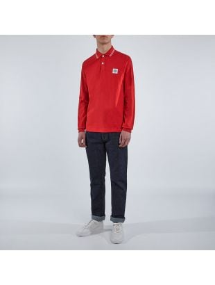 Long Sleeve Polo - Red