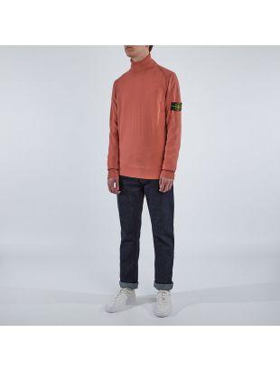 Roll Neck Sweatshirt - Coral