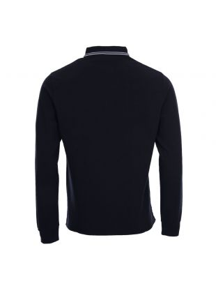 Long Sleeve Polo Twin Tipped - Navy