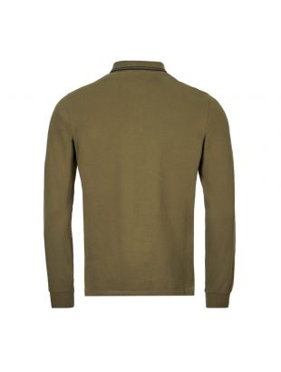 Long Sleeve Polo Shirt - Olive