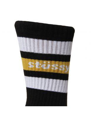 Socks - Black / Yellow / White Stripe
