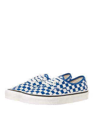 Authentic Trainers - Blue Checkerboard