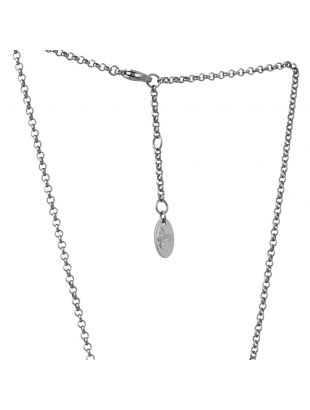 Mini Bas Pendant Necklace - Pewter