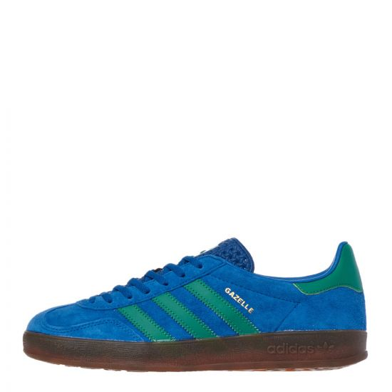 adidas Originals Gazelle Indoor Trainers | EE5735 Blue / Green | Aphro