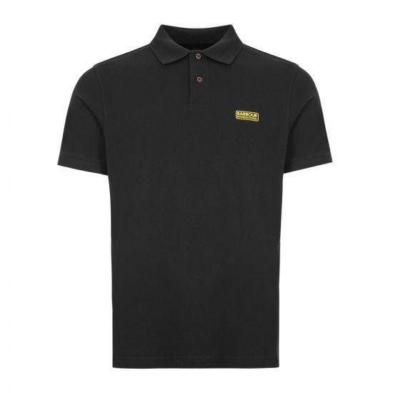 Barbour International Polo Shirt Logo MML0914 BLK31 Black