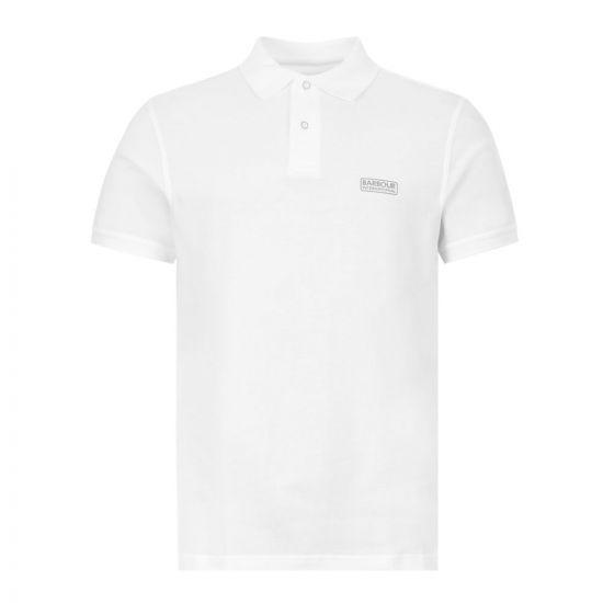 Barbour International Polo Shirt Logo MML0914 WHT11 White
