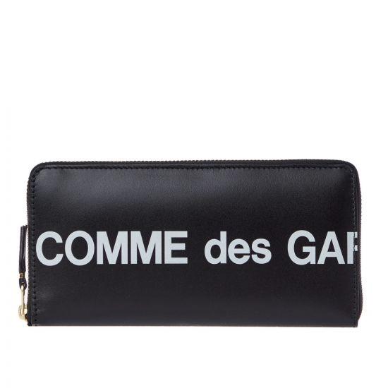 Comme des Garcons Wallet Logo   SA0110HL BLACK