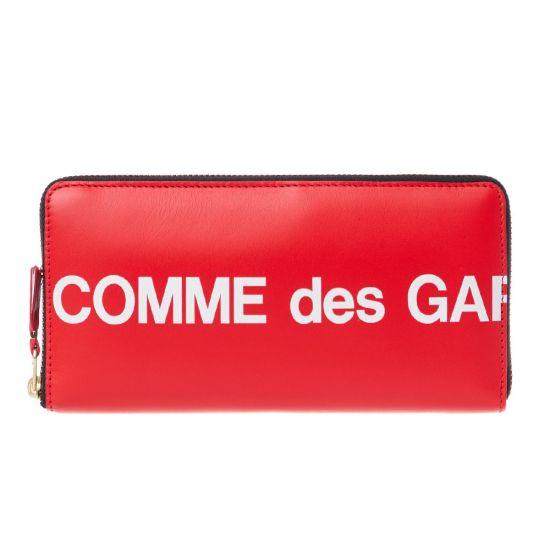 Comme des Garcons Wallet Logo   SA0110HL RED