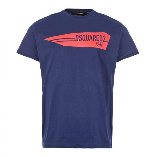 DSquared T-Shirt 1964 Logo - Dark Blue 21197CP -1