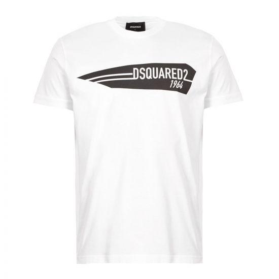 DSquared T-Shirt 1964 Logo - White 21196CP -1