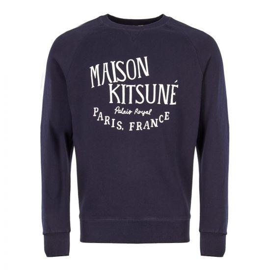 Maison Kitsune Sweatshirt AM00300K M0001 NA Navy Logo