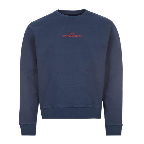 Maison Margiela Compact Sweatshirt Logo | S50GU0166 S25503 510 Indigo