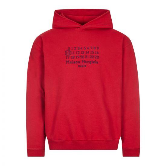 Maison Margiela Logo Hoodie | S50GU0163 S25503 305 Red