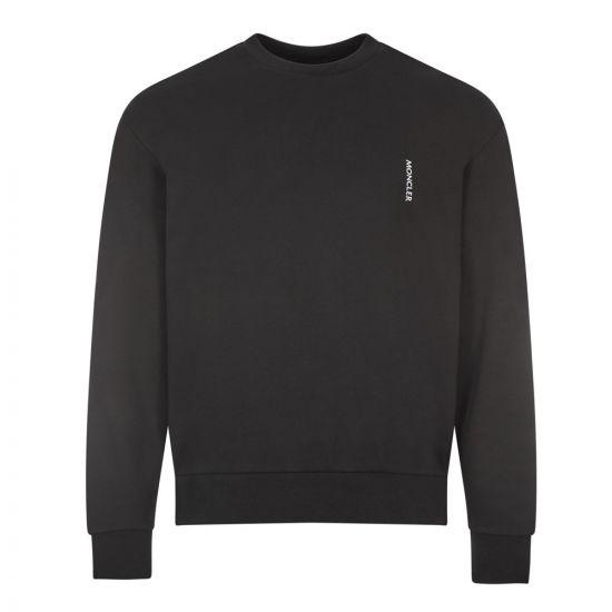 Moncler Logo Sweatshirt | 8G791 10 8098U 999 Black