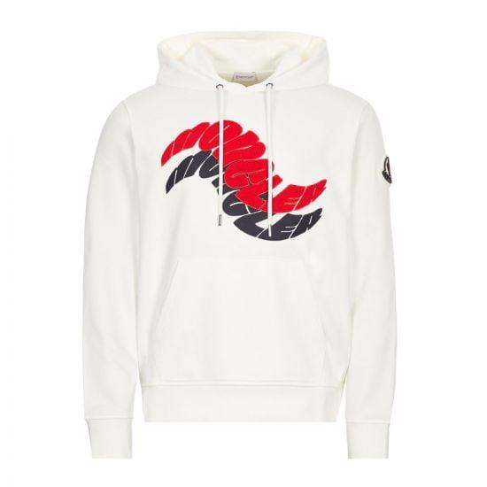 Moncler Hooded Sweat Logo | 8G773 10 80985 034 White