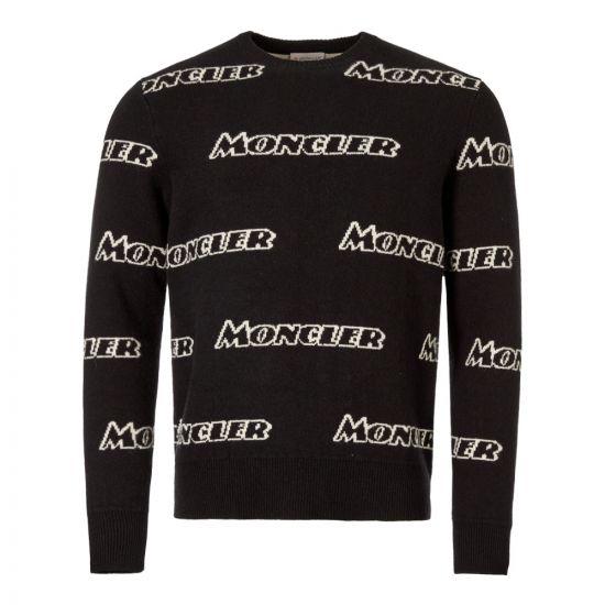 Moncler Jumper Logo 90436 A9138 999 Black