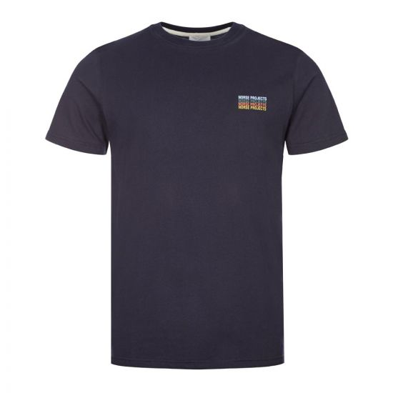 Norse Projects Neils T-Shirt Logo Stack | Navy