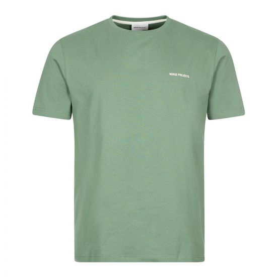 Norse Projects Niels Core Logo T-Shirt   Linchen Green