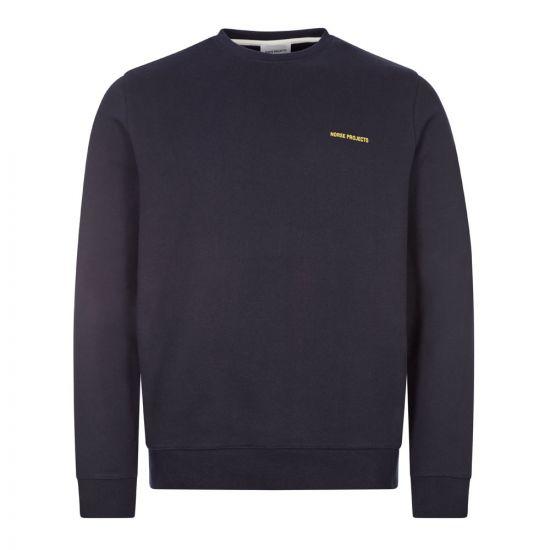 Norse Projects Vagn Logo Sweatshirt | Navy