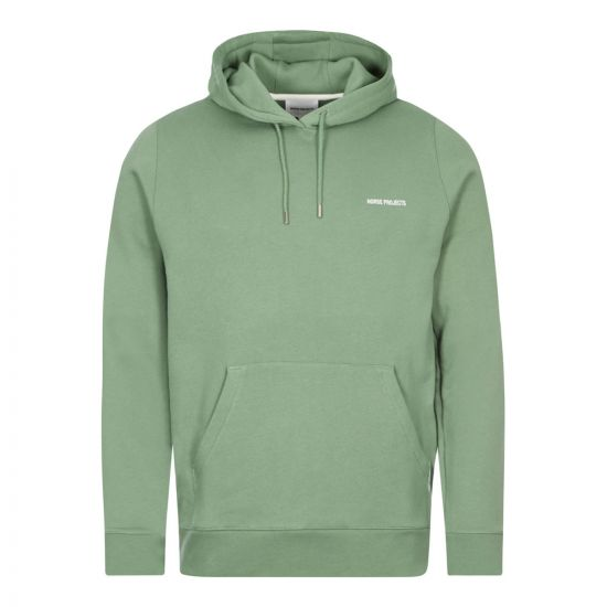 Norse Projects Vagn Logo Hoodie | Lichen / Green