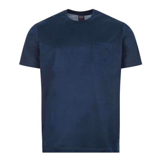 Paul & Shark T-Shirt Logo Embroidery| C0P1011 013 Navy