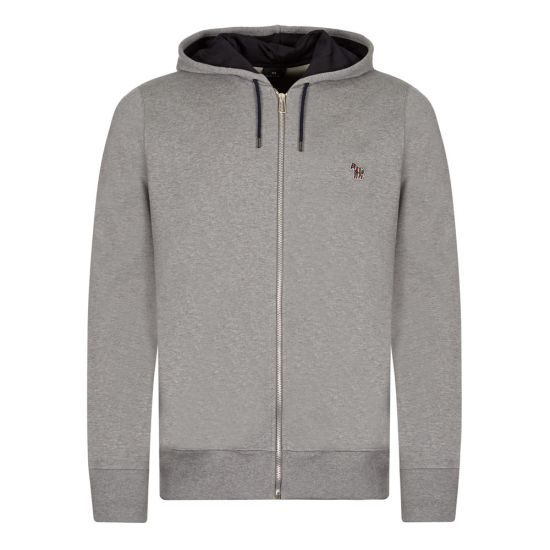 paul smith hoodie logo, grey, zebra logo