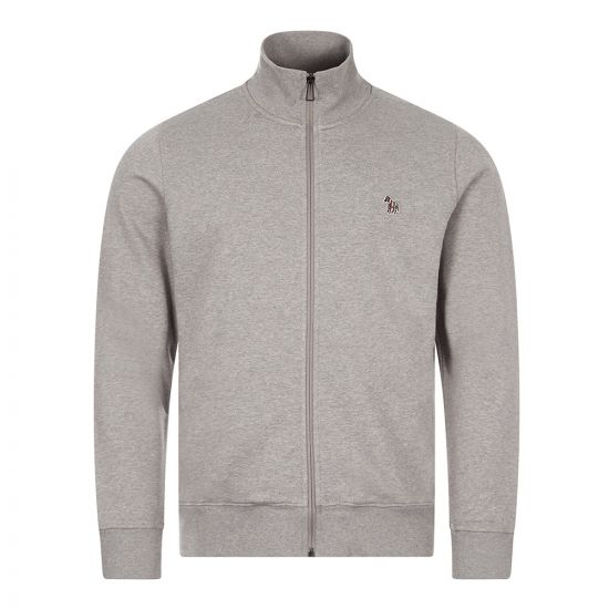 Paul Smith Zebra Logo Zip Sweatshirt   Grey