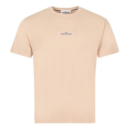 Stone Island Logo T-Shirt Antique Rose Aphrodite 1994