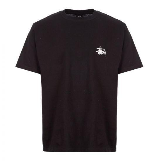 Stussy T-Shirt Basic Logo   1904464 Black
