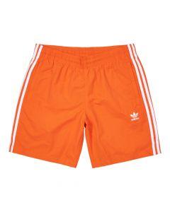 adidas Originals 3 Stripe Swim Shorts | EJ9697 Orange